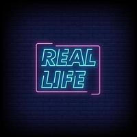Real Life Neon Signs Style Text Vector