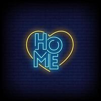 Home Neon Signs Style Text Vector