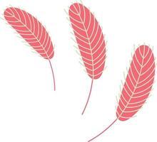 pluma de pájaro. pluma de pollo o ganso vector