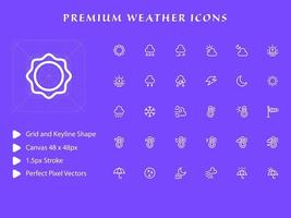 Weather icon pack vector