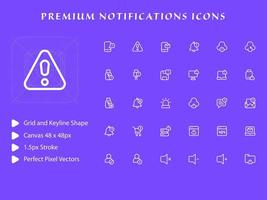 Notifications icon pack vector