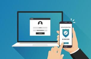 Authentication security concept vector illustration. Identity verification design.