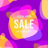 Special offer sale banner template design. vector