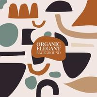 Modern Fluid Organic Colorful Vector Collages With Hand Drawn Organic Shapes, Trendy Contemporary Design