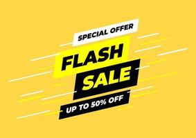 Special offer flash sale banner template. vector