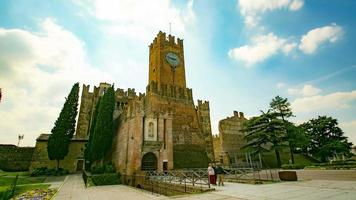 Timelapse view of a Castle in Villafranca, Verona, Italy