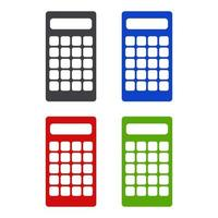 Isometric Calculator Icon On Background vector