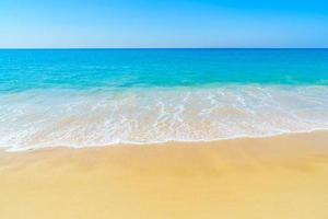 Beautiful beach and sea photo