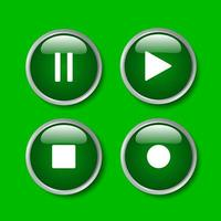 diseño gráfico de signo simple aislado sobre fondo azul. icono de reproducción, vector multimedia para video y audio, detener y pausar.