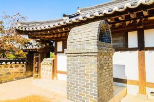 Namsangol hanok village en Seúl, Corea del Sur