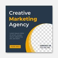 Creative digital business agency social media post template design. Banner promotion. Corporate advertising