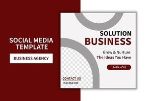Creative minimalist general business agency social media post template design. Banner promotion. Corporate advertising vector