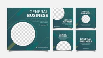 Diseño de plantilla de publicación de redes sociales de agencia de negocios general minimalista creativa. promoción de banner. publicidad corporativa vector