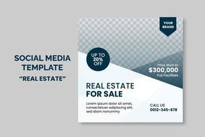 Simple Minimalist Real estate Social Media Post template banner design. web advertising banner. Sale and Discount promo. vector