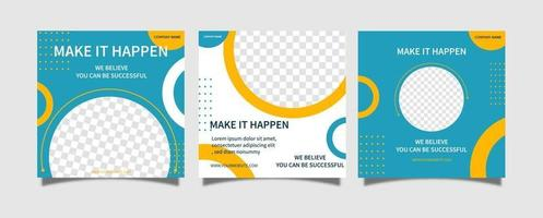 Creative vector modern Business ads social media post template banner collection. online web promotion