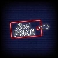 Best price Neon Signs Style Text Vector