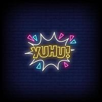 Yuhu Neon Signs Style Text Vector