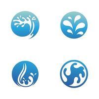 splash water nature logos vector