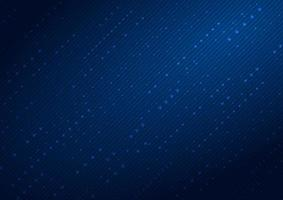 Abstract futuristic technology digital lines dot and arrow on dark blue color background. vector