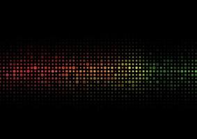 Abstract colorful halftone texture dots pattern on balck background. vector