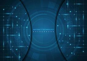 Abstract digital technology UI futuristic HUD virtual interface elements Sci- Fi modern user motion graphic. Technology innovative concept. vector