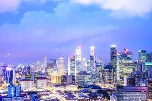 Singapore city skyline photo