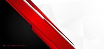 plantilla banner corporativo concepto rojo negro gris y blanco contraste de fondo. vector