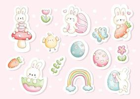 Easter sticker, planner and scrapbook vector