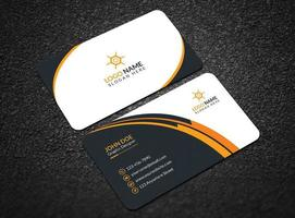 Modern And Professional Business Card, Abstract And Simple Business Card, Colorful Business Card Design vector