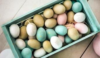 Crate of Easter eggs