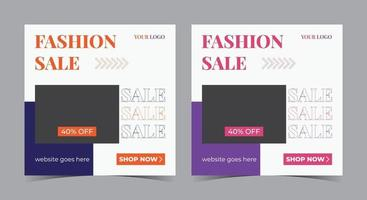 Fashion Sale social media post and flyer vector