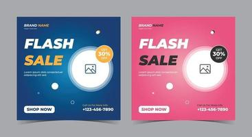 Flash Sale social media post and flyer vector