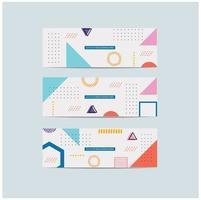 Memphis Style Covers Set Geometric Shapes vector