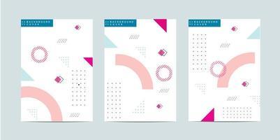 Memphis brochure template vector