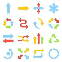 Pack of Arrows Flat Icons vector
