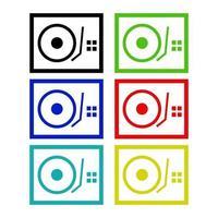 icono de mezclador de dj en el fondo