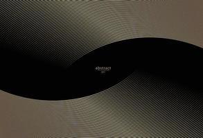 Fondo de rayas diagonales deformado de color oro abstracto. vector curvado torcido inclinado, textura de líneas onduladas. nuevo estilo para el diseño de su negocio.