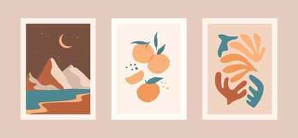 Collection of contemporary art prints. Modern vector design for wall art, posters, cards, t-shirts nd more