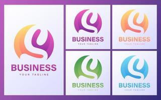 conjunto de logotipo letra s