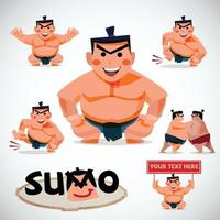 sumo character set - vector illustration