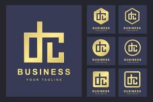 conjunto minimalista de logotipo de letra dc
