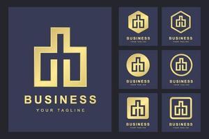 conjunto minimalista de logotipos de letras db