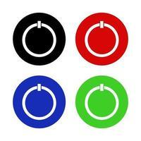 icono del botón de encendido en el fondo