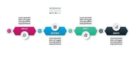 Plantilla de negocio de infografía con diseño de paso u opción.