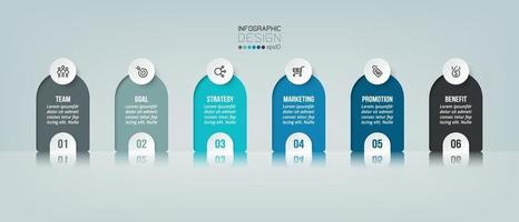 Infographic business and marketing with step or option. vector