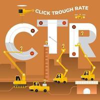 ilustraciones tipo de construcción tasa de clics vector