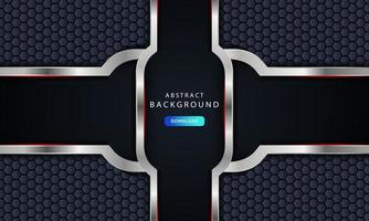 Realistic overlap layer on hexagon pattern background vector
