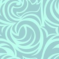 textura turquesa sin fisuras de espirales y rizos. patrón de mar en colores pastel. vector