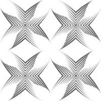 Seamless vector pattern of uneven lines drawn with a pen in the form of corners or crosses.