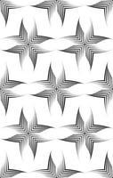 Seamless vector pattern of uneven lines drawn with a pen in the form of corners or rhombuses.